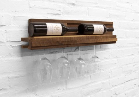 wine bottle and glass rack plans